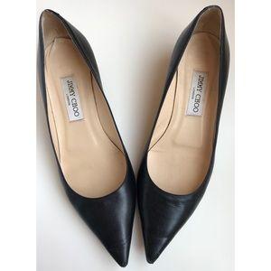 Jimmy Choo Black Kitten Pump Heels Size 40/US 10